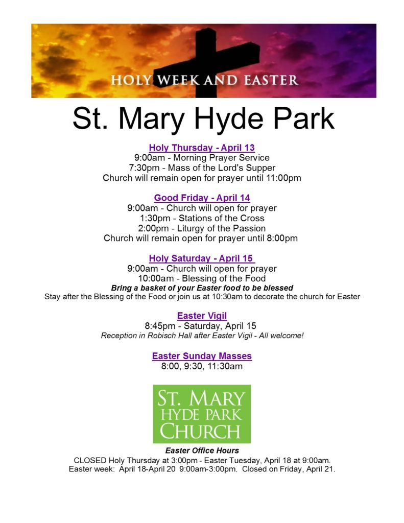 Holy Week & Easter 2017