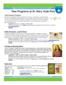 New Programs at St MAry with links