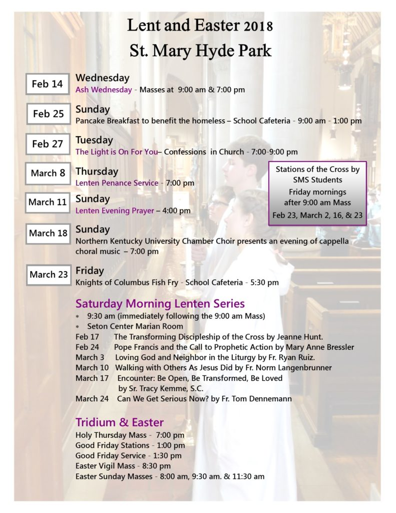 Lent & Easter 2018 at St. MAry